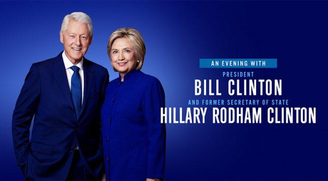 Une soirée avec Bill Clinton & l'ancienne secrétaire d'état Hillary Rodham Clinton: le mercredi 28 novembre 2018 à 19h30 au Centre Bell