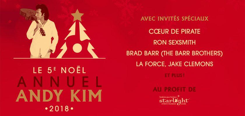 ANDY KIM CHRISTMAS, le samedi 15 décembre prochain au Théâtre Corona @ Théâtre Corona